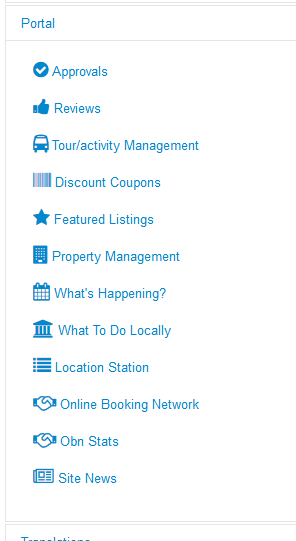 online booking network menu link