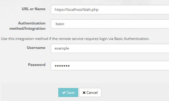 webhooks basic authentication