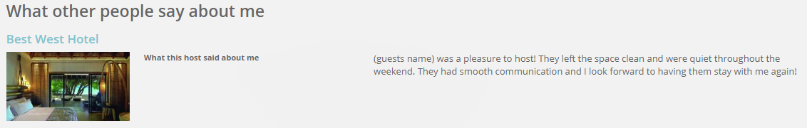 host reviews of guests